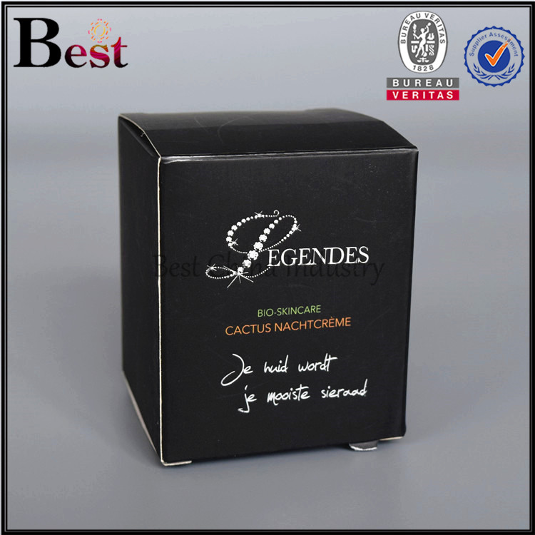 common black cosmetic package box for glass jars
