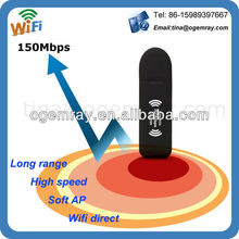 wifi usb adapter 2000mW,150mbps,6dbi antenna,Ralink RT3070 chipset