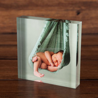 perspex plexi glass clear acrylic photo block wholesale