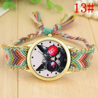 AliExpress new Korean version of the exquisite handmade big eyes cat lady knitting pattern national wind watch bracelet watch
