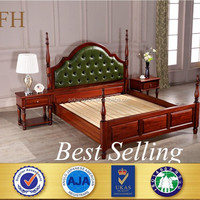 BEST selling modern designs double teak solid wood bed with box
