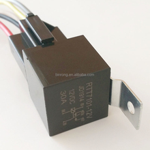 JD1914 DC12V 30A 5 Pin Auto Relay With Metal Bracket & Socket Wire