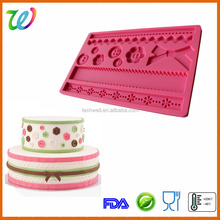 Beautiful fastener fondant decoration cake mold