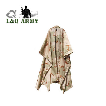 Waterproof Men Rain Cover US Army Ripstop Festival Rian Poncho