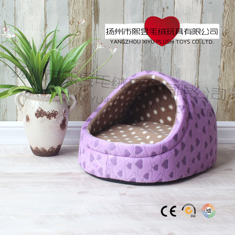 Wholesale high quality cheap luxury slipper pet bed for cute cats or dogs