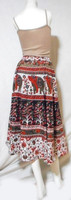 RETRO INDIE HIPPIE BOHO ANIMAL FLORAL PAISLEY cotton THAI oriental maxi BEACH SKIRT