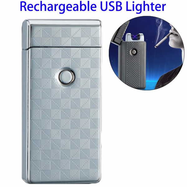New Arrival Chemical Free Dual Arc Windproof Electric USB Lighter, Electronic Cigarette Lighter