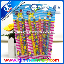 5pcs color pencil in Blister card /basswood /lead include 7color