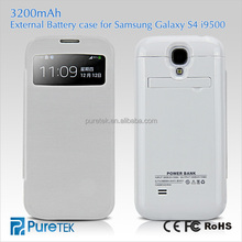 Hot selling ultra-thin portable battery power pack 3200mAh backup power bank charger case for samsung galaxy s4 i9500