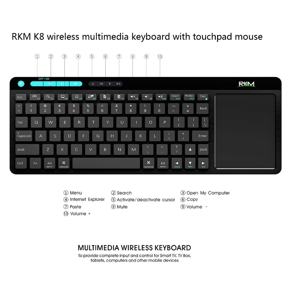 MINI keyboard with touch pad mouse combo
