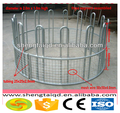 Galvanized or powder coated cattle horse hay bale feeder