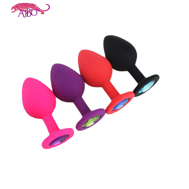 Hot Selling Small Size Jewelry Crystal Gems Metal Anal Butt Plug Sex Toy Wholesale Shop