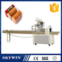 CE High Speed Automatic Bread,Cake,Biscuit Food Flow Packaging machine