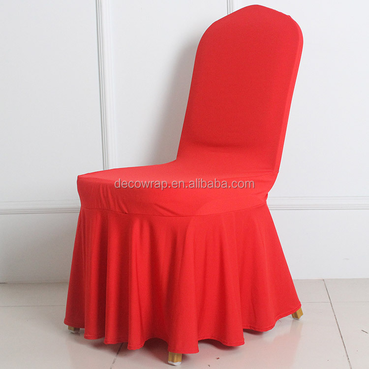 Fitted Stretch Banquet Chair Cover for Wedding Cheap Spandex Chair Cover