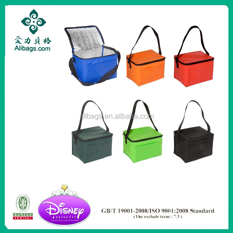 2016 promotional wholesale non woven insulated lunch cooler bag