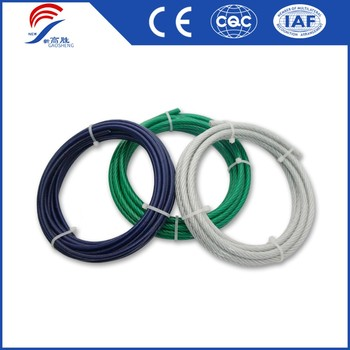 6x19 Galvanized Ungalvanized Stainless PVC Coated Steel Wire Rope All Kinds Wire Rope