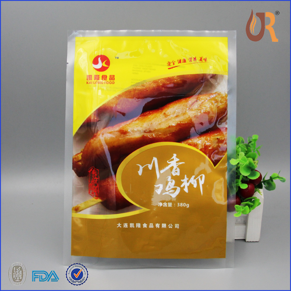 Beef steak meat frozen vacuum bag