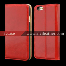 Wholesale Handmade Genuine Leather Wallet Phone Case For Custom Iphone 6 Case New Arrive