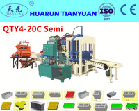QT4-20 hollow paving block making machine