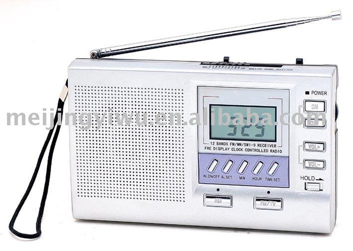 K-999 12band silver digital display radio transmitter receiver with antenna