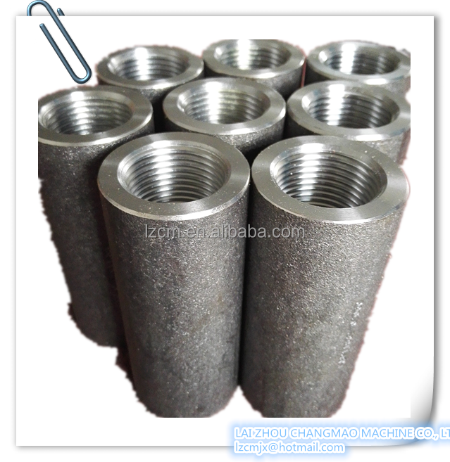 Building material steel rebar coupler