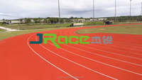 2016 china outdoor Prefabricated rubber running track