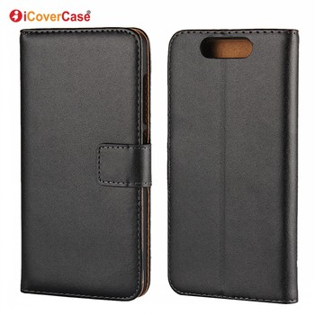 Factory Wholesale Mobile Phone Pouch Bag Flip Cover Genuine Leather Wallet Phone Cases for ZTE Blade V8 Coque Etui Funda