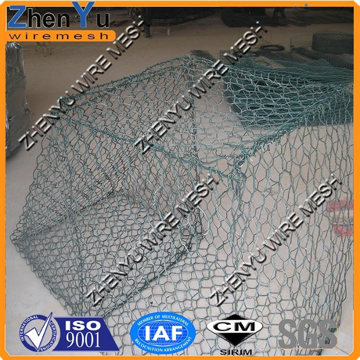 Gabion box, hexagonal wire mesh Gabion mesh, Gabion basket with SGS and BV inspection