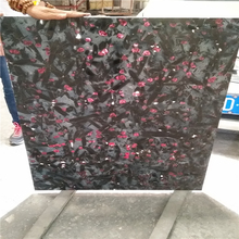 Italy black night rose granite wall stone tile