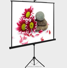 Tripod Stand Manual Projection Screen / Floor Pull Up Projector Screen