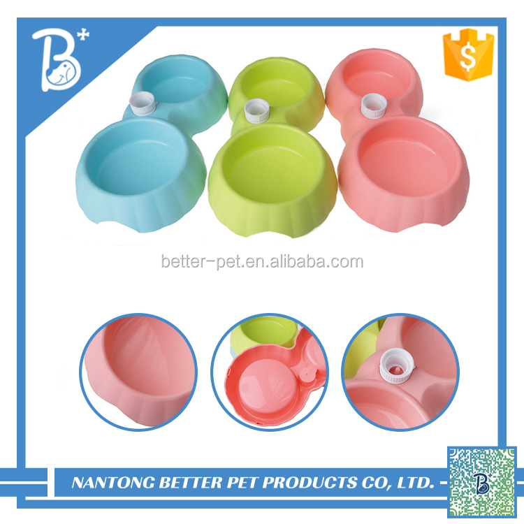 Plastic cat bowl Bird Dog bowl On Cage Cup Food Water Bowl