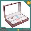 Tonvic Factory Hot 12 Slots Wooden Wrist Watch Display Boxes Customized