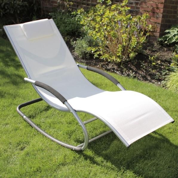 Chaise longue roking chaise z ro gravit bascule - Chaise longue a bascule ...