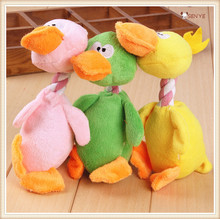 2016 New Trendy Products Plush Singing Christmas Toys Duck Squeaky Dog Toy