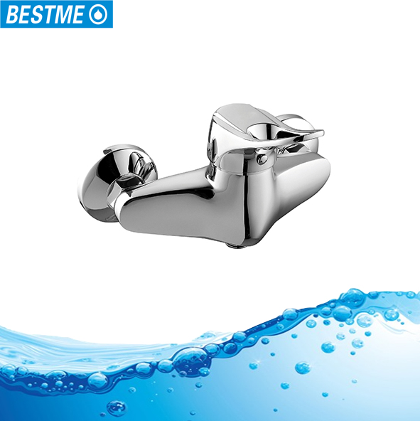 hot & cold single handle brass bathroom shower faucet tap outdoor water mixer