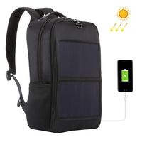 HAWEEL 14W Solar Panel Power Backpack Laptop Bag with Handle and Dual USB Charging Port