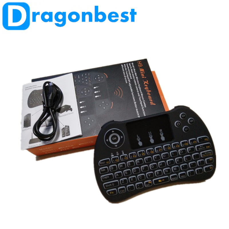 2017 Dragonworth wholesale H9 air mouse for Android TV BT 2.4GHz Wireless keyboard remote android smart tv controll