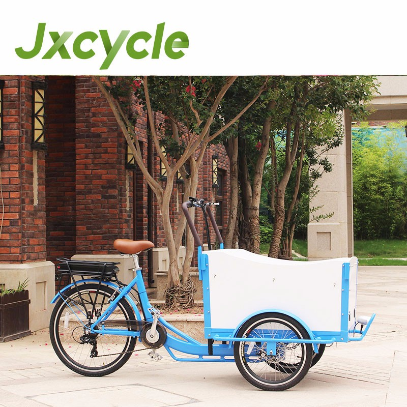 250w aluminum auto rickshaw bicycle with cargo box