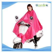 Motorcycle superior quality wholesale convenient raincoat/poncho with mirror cover