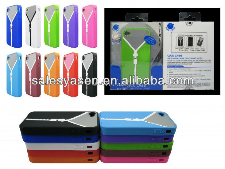 Soft Silicone cover for iphone 4 silicone clothes case