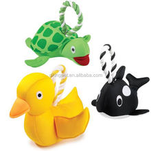 Turtle, Duck, Killer Whale, Floaty Tugs Water Toy For Dogs