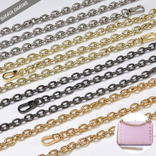 Custom size gold plated metal handbag chain for decorate