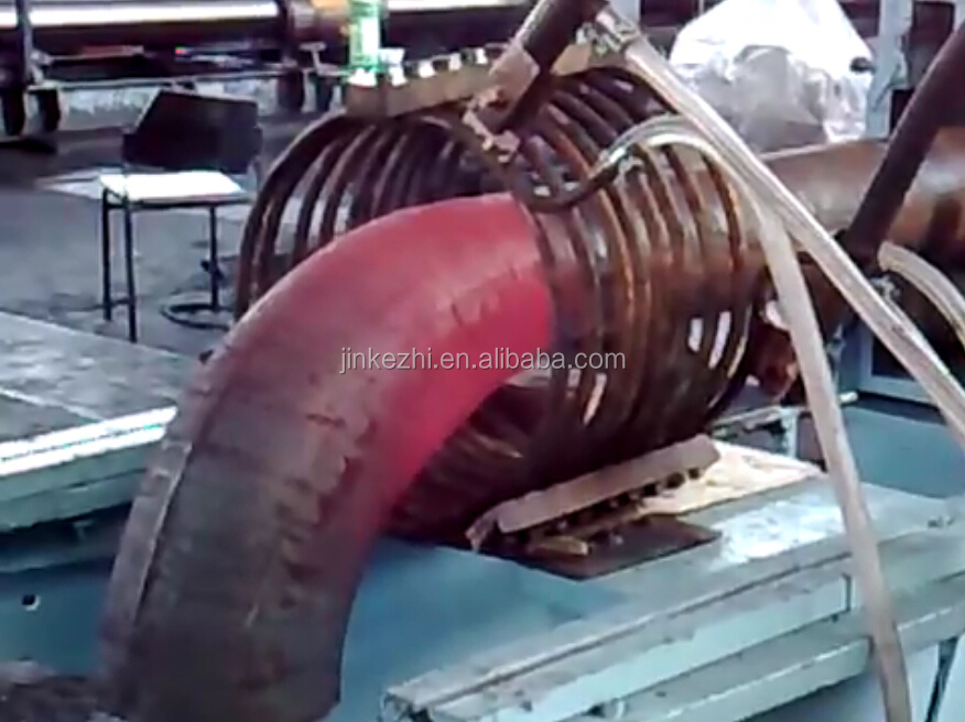 stainless steel elbow making induction heating machine