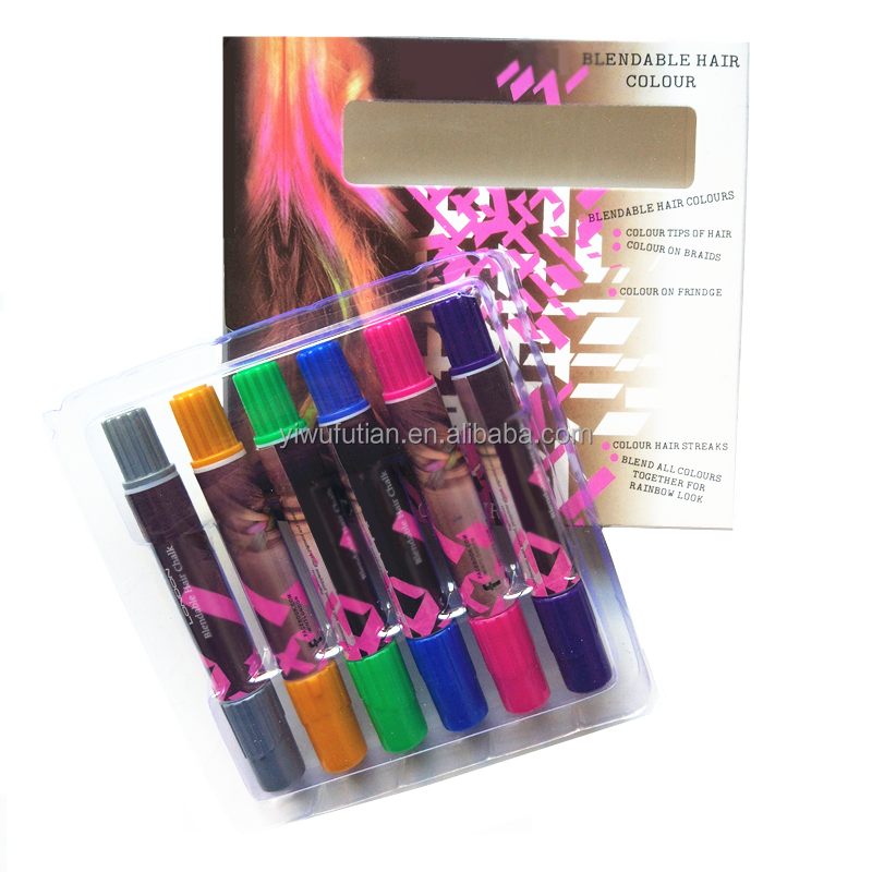 Temporary Hair Color Pen Crayon Chalk Non-Toxic Blendable Rainbow Colored Dye Pastel Kit Essential