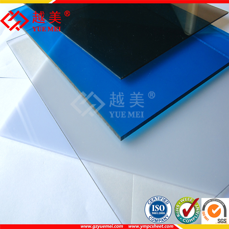 Stronger than acrylic sheet- Lexan plastic solid polycarbonate sheet for Greenhouse Canopy Roofing