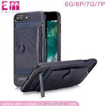 Lagging leather phone case for iphone 6 6plus 7 7plus wallet card case kickstand cell phone cover