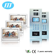 7 inch monitor video door phone with RFID key fobs video doorbell camera wired doorbell system