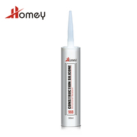 Homey 988 neutral excellent weathering black structural glass sealant