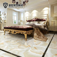 800x800 high gloss full polish non slip marble look porcelain flooring tile for interior decoration