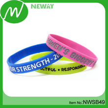 2017 Factory Wholesale Silicone Thin Sport Bracelet
